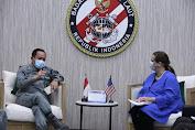 Kepala Bakamla RI Terima Kunjungan Kehormatan Charge D' Affaires Dubes Amerika Serikat