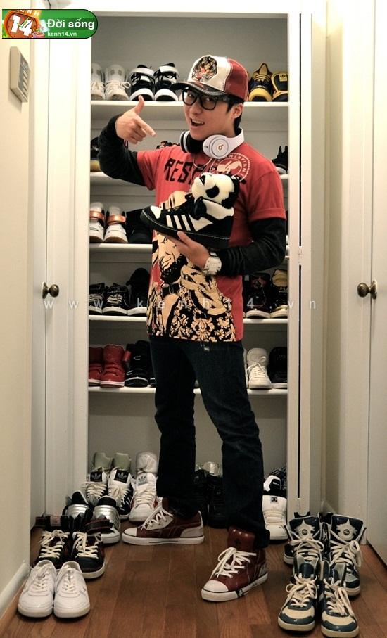 Bộ sưu tập giày sneaker tột đỉnh của anh chàng việt tại mỹ bạn nữ nào cũng m5ê