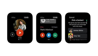 Facebook launches an app to communicate with people close to Apple Watch