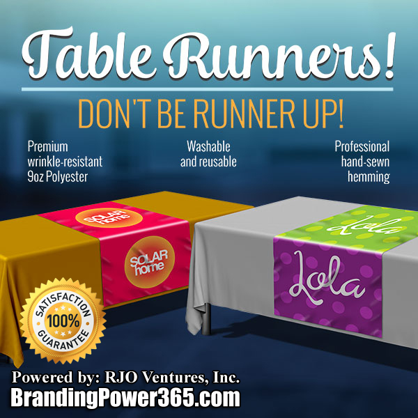 You Can Order Table Covers With Us! Table Throws and Table Runners Available (BrandingPower365.com)