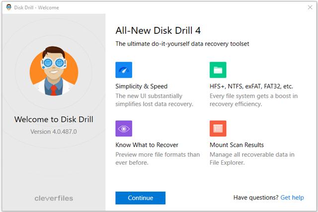 تحميل برنامج Disk Drill لاسترجاع الملفات المحذوفة من القرص الصلب الداخلي أو الخارجي على جهاز الكمبيوتر
