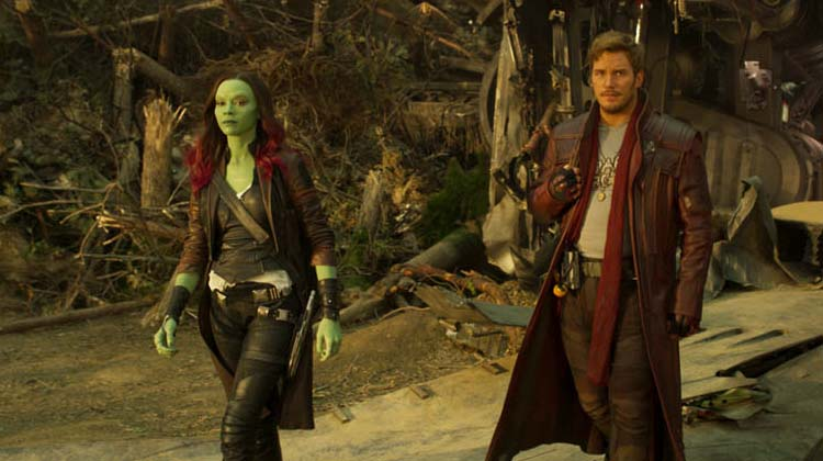 Gamora y Star-lord Guardianes de la Galaxia Vol. 2
