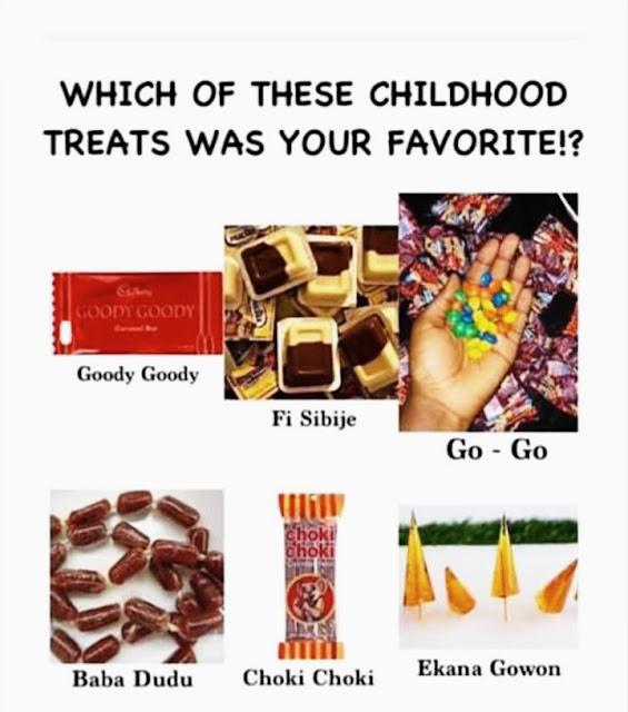 Favourite Childhood Treat............