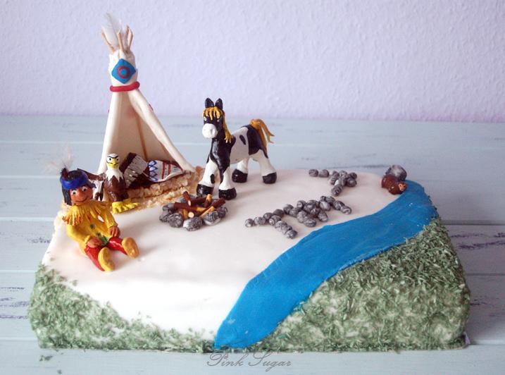 kessy 39 s pink sugar eine indianer torte zum kindergeburtstag. Black Bedroom Furniture Sets. Home Design Ideas