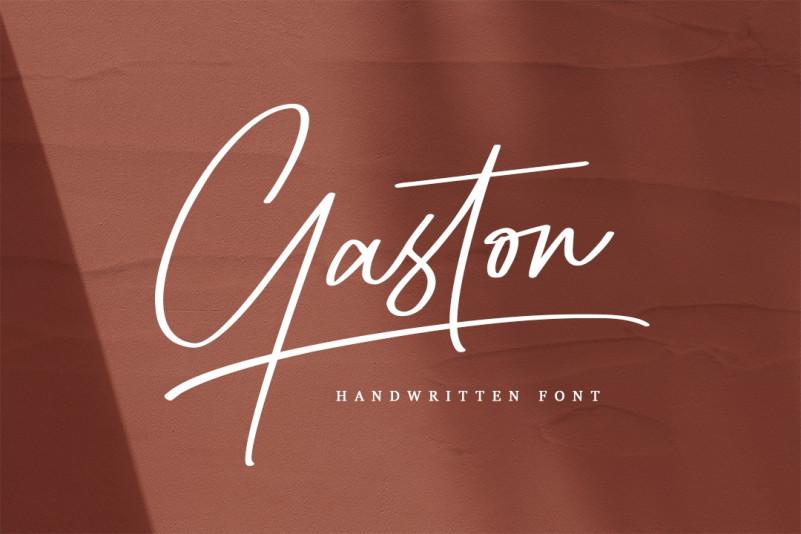 Gaston Font - Free Signature Script Typeface