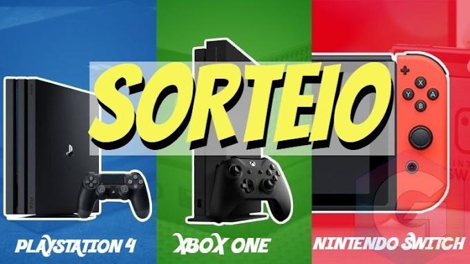 SORTEIO DE UM: Playstation 4, Xbox One ou Nintendo Switch - VOCÊ ESCOLHE!!!
