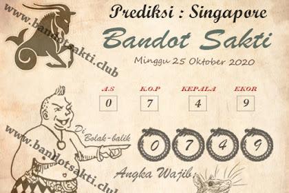 Syair Bandot Sakti Togel Singapore Minggu 25 Oktober 2020