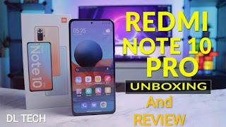 Redmi Note 10 pro and it's box