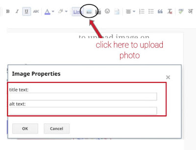 how to upload image on Google by using blog