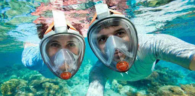 Which are the snorkel sites in Galapagos´ Central Islands?