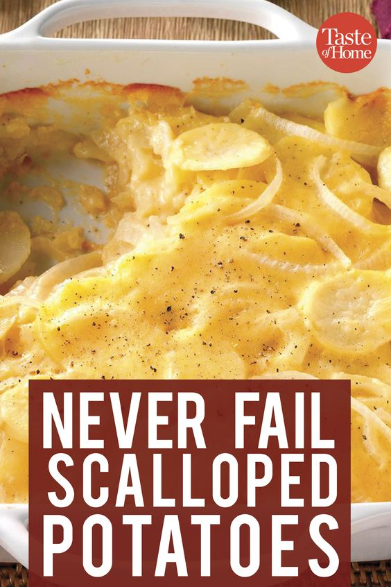 Never-Fail Scalloped Potatoes #recipes #dinneridea #dishideas #dinnerdish #dinnerdishideas #food #foodporn #healthy #yummy #instafood #foodie #delicious #dinner #breakfast #dessert #lunch #vegan #cake #eatclean #homemade #diet #healthyfood #cleaneating #foodstagram