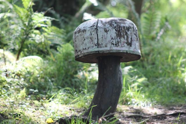 Wooden Mushroom Barytes Mill