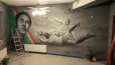 Mural Kazimierz Deyma, ciekawy pomysł na aranżację baru. mural