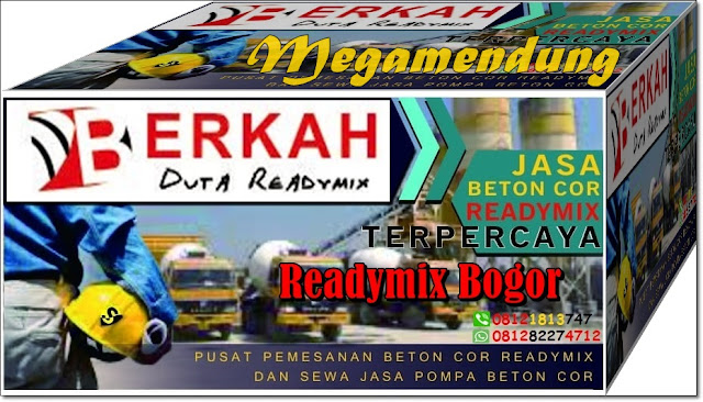 Harga Readymix dan sewa Pompa beton Di megamendung Bogor