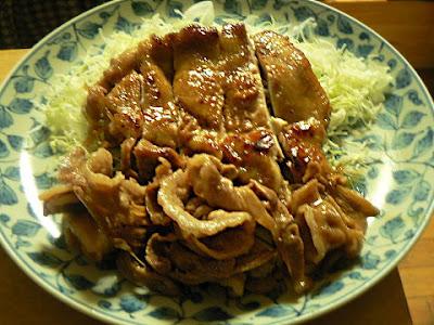 鶏豚の生姜焼き完成