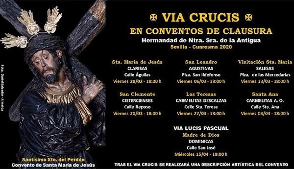 La guía de los vía crucis de Cuaresma en los conventos de Sevilla