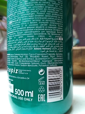 Stapiz Botanic Harmony pH 4,5 Maska na vlasy ingrediencie