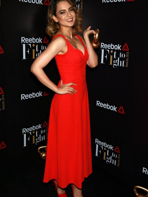 Kangana Ranaut Stills At Reeboks first Fit To Fight Awards 2016