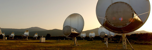 Satellites scanning for radio waves