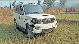 विधायक की गाड़ी ने दो किशोरों को कुचला, गंभीर हालत में अस्पताल में भर्ती