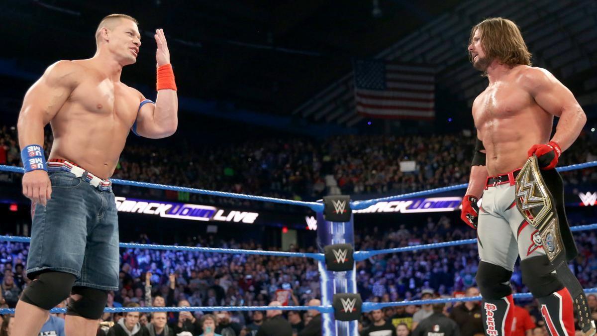 AJ Styles diz que aprendeu muito com John Cena