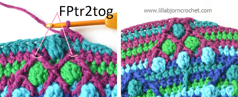 Part 5: Peacock Tail Bag CAL in overlay crochet. Free crochet pattern by Lilla Bjorn.