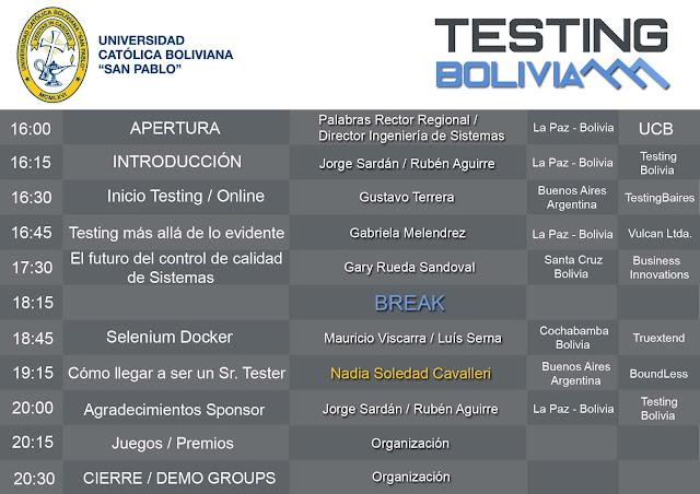 Testing Day Bolivia Programa