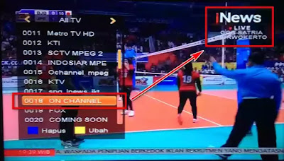 Frekuensi iNews TV di K Vision