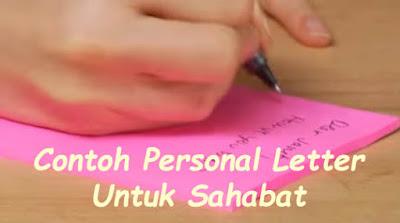 personal letter untuk sahabat