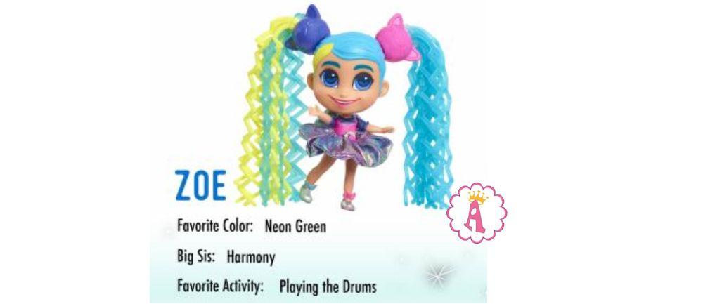 Игрушка малышка Zoe Hairdorables Short Cuts Jelly Hair серия 2