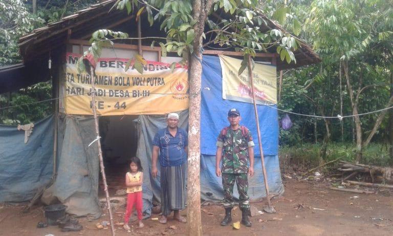 "Rumah Dinding Terpal ""Kini Disulap Menjadi Rumah Layak Huni Oleh Satgas TMMD 108 Kodim Martapura"