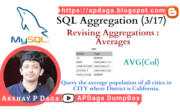 HackerRank: [SQL Aggregation - 3/17] Revising Aggregations - Averages | AVG Function in SQL