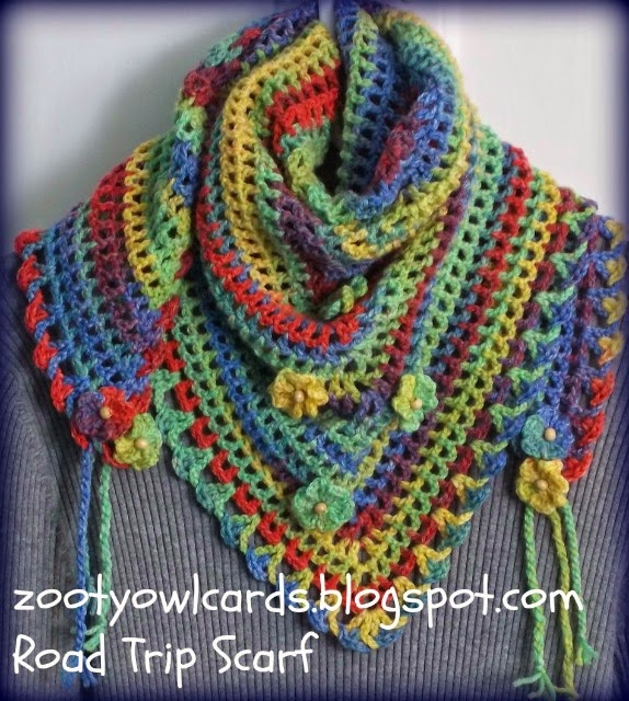 Zooty Owls Crafty Blog Road Trip Scarves Pattern