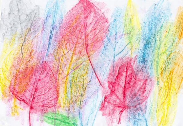frottage z liści