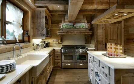 wooden house interior design