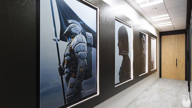Foram divulgadas as primeiras imagens do estúdio de Kojima.