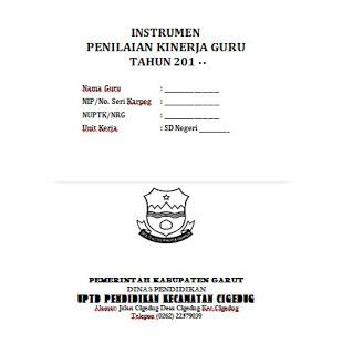Download Instrumen Penilaian Kinerja Guru PKG 2017 Terbaru Format Word.doc