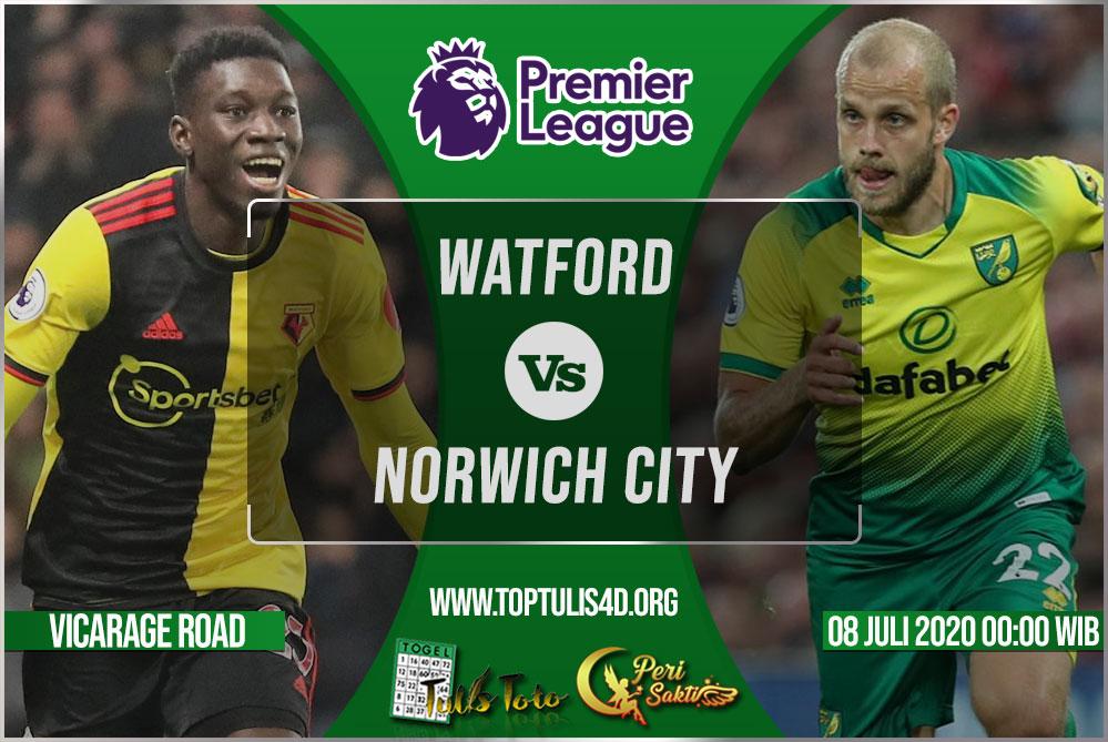 Prediksi Watford vs Norwich City 08 Juli 2020
