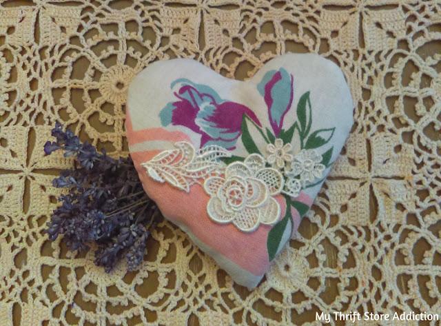 vintage tablecloth lavender sachet