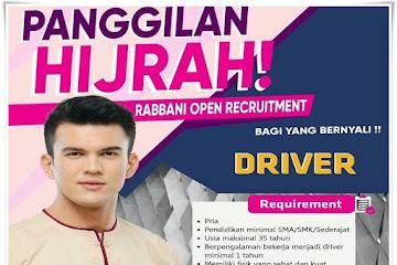 Loker Bandung Karyawan Driver Rabbani