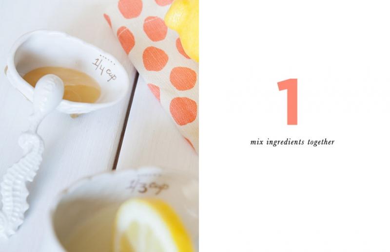 Bước 1: Mặt nạ mật ong chanh