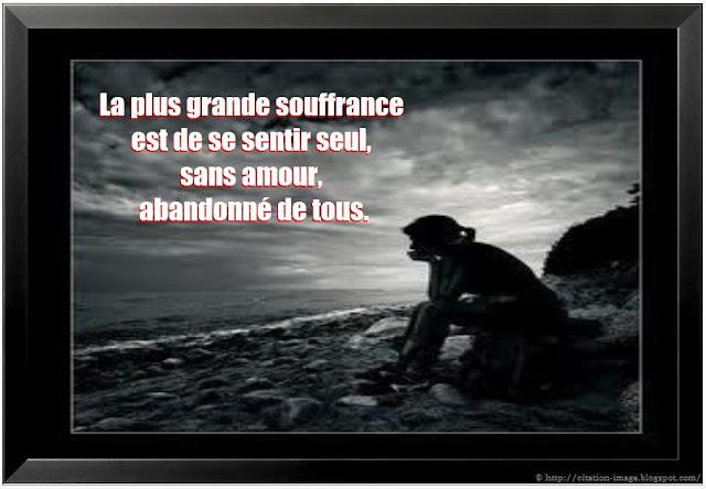 """Citation tristesse d'amour, citation chagrin d'amour et peine: """"La ..."""
