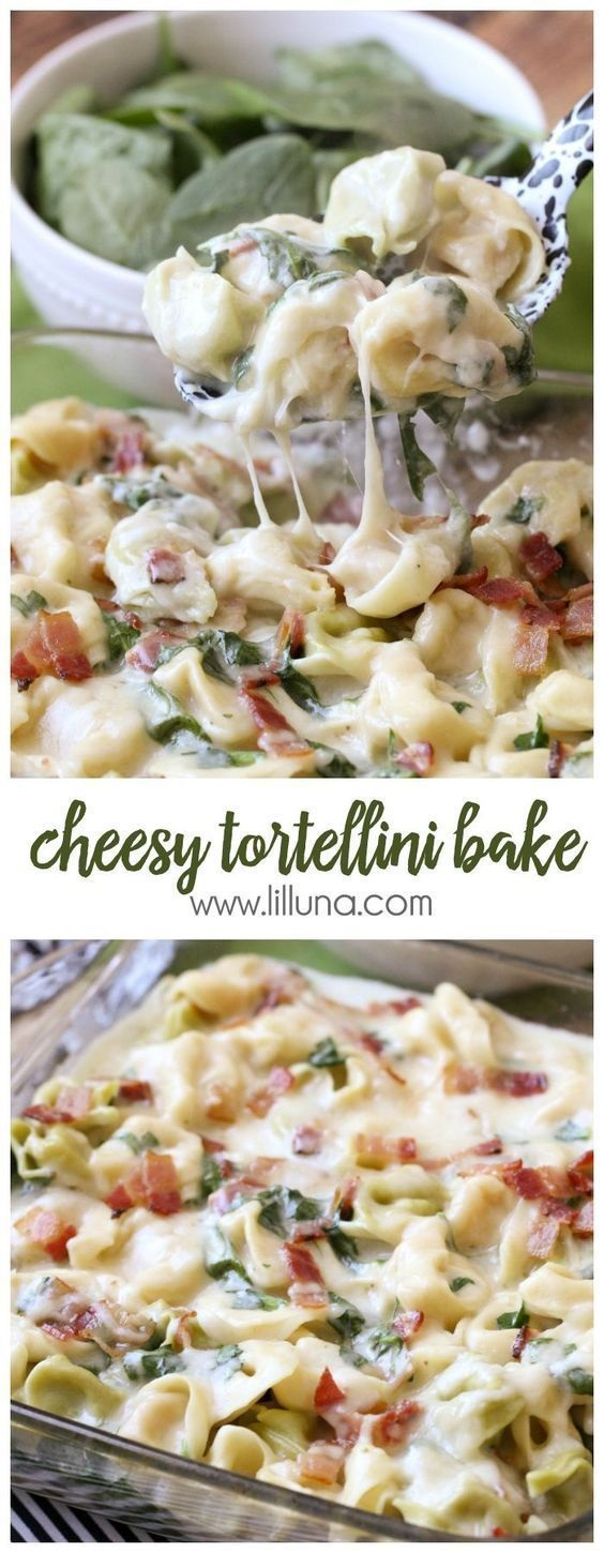 Cheesy Baked Tortellini Recipe
