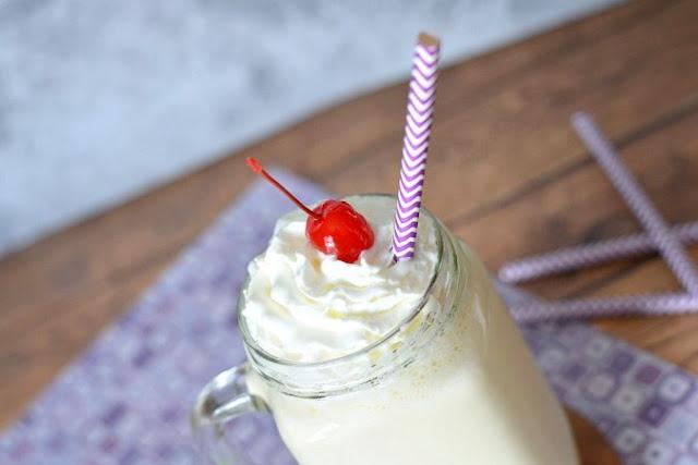 Classic Vanilla Milkshake #delicious #drinks