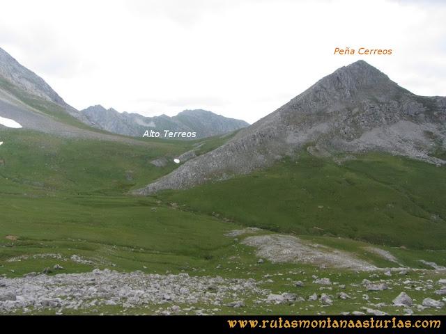 Ruta Peña Cerreos y Ubiña Pequeña: DesdePeña Ubiña Pequeña al Alto Terreos