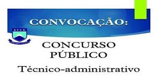 UFCG realiza 4ª convocação dos aprovados no concurso para técnico-administrativos