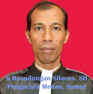 Pengacara Batak Senior Kota Medan N Hasudungan Silaen, SH