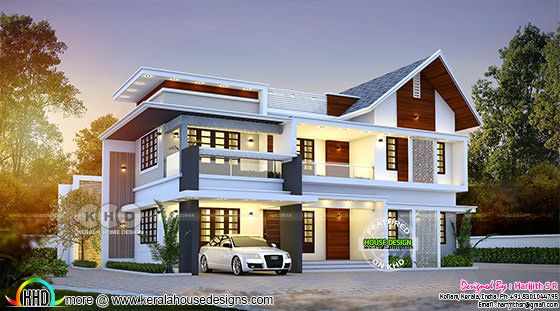 Beautiful mixed roof house plan