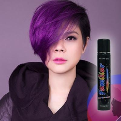Hình ảnh keo xịt tóc màu familiar hair color purple ( màu tím )