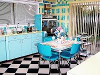 The interior design minimalist kitchen